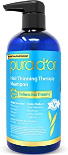 PURA D'OR Hair Thinning Therapy Biotin Shampoo ORIGINAL Scent (16 oz) w/Argan Oil, Herbal DHT Blockers, Zero Sulfates, Natural Ingredients For Men & Women, All Hair Types (Packaging may vary)