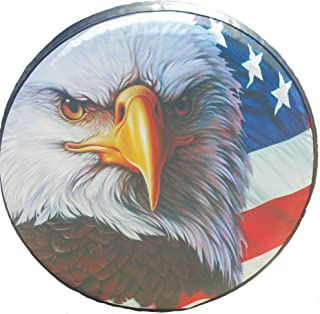 Spare Tire Cover American Flag Eagle 29-30 inches
