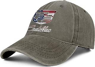 BSUTU Mens Women Washed Cotton Cowboy Hat Cadillac-3D-effect-flag-infinity- Adjusted Sport Baseball Cap