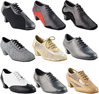 """Thick Heel Dance Shoes for Practice & Teaching: 1"""" 1.5"""" 2"""" & Flat"""