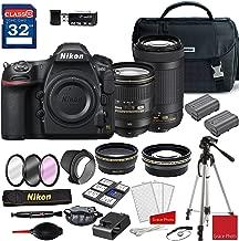 Nikon D850 DSLR Camera with AF-S 24-120mm VR Lens & 70-300mm ED Lens + Deluxe Accessory Kit (2 Battery Bundle)