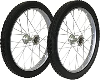 Morgan Cycle Heavy Duty Solid Rubber Cart Wheel and Axel Kit, 20