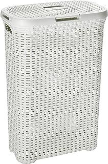 CURVER Stil 60 L tvättlåda, plast, kräm, 44,8 x 34,1 x 61,5 cm