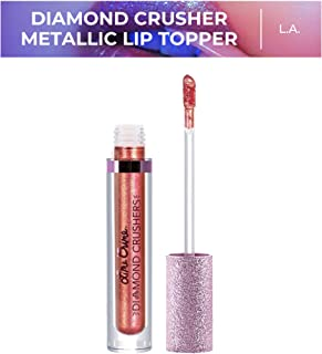 Lime Crime Diamond Crushers Iridescent Liquid Lip Topper, L.A. - Sunset Orange - Strawberry Scent - Enhances Mattes - Can Be Used on Face & Body - Wear Alone Or Over Lipstick - Vegan