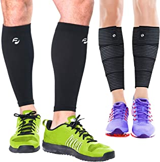 جورابهای آستین فشرده سازی گوساله و بستن پاها (4 قطعه) پشتیبانی شلن اسپین ، نگهبانان گوساله برای آقایان و خانمها - بریس ها باعث تسکین درد گردش خون سالم برای دویدن ، بسکتبال ، دوچرخه سواری ، زایمان می شوند