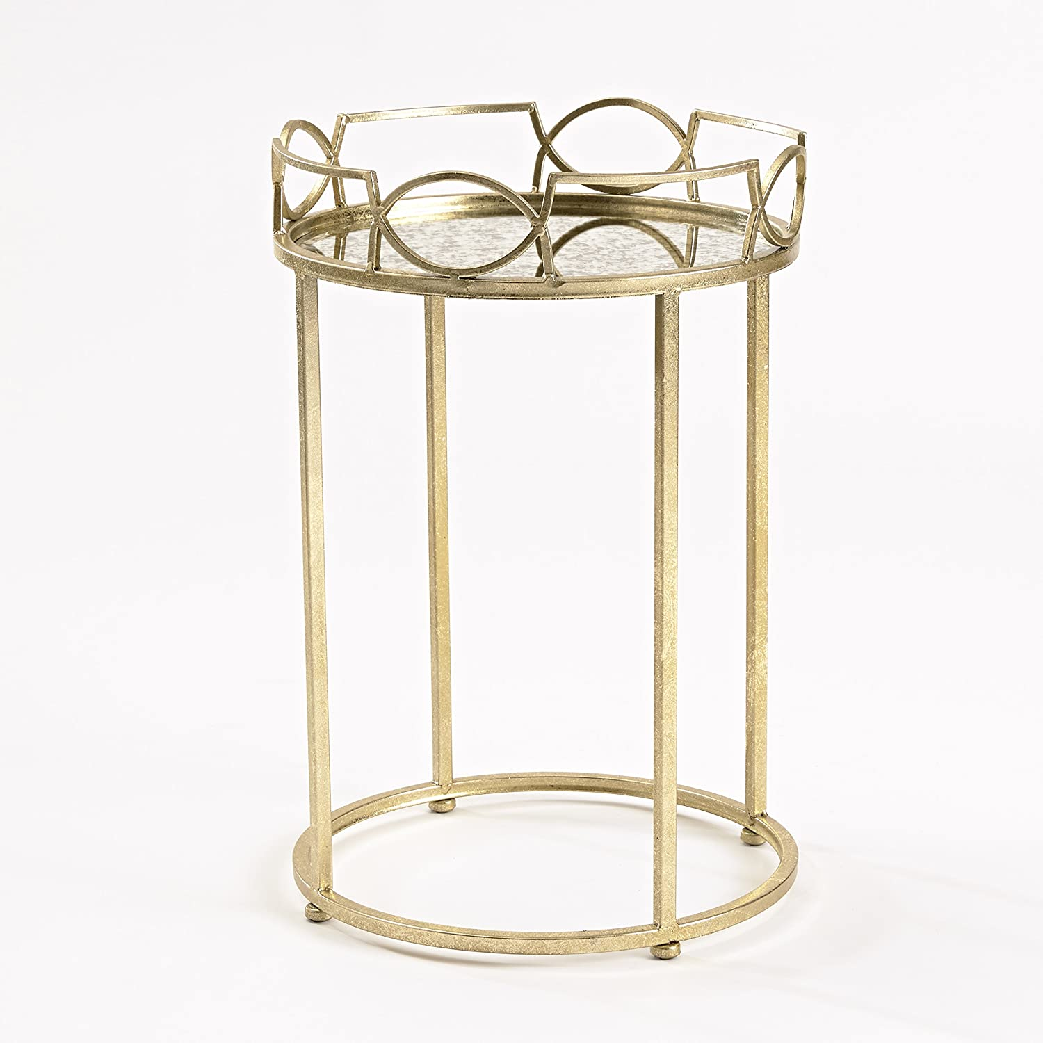 InnerSpace Luxury Products Lattice Edge Side Table