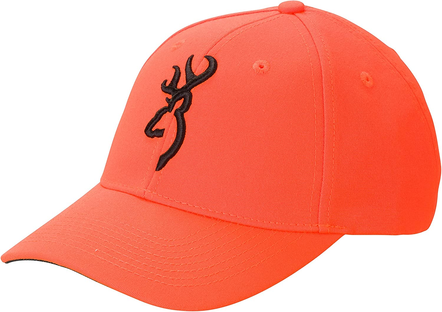 Browning Safety Cap with 3-D Buckmark, Blaze, Adult Cap Adjustable fit 30840501