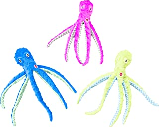 SPOT Ethical Pets Skinneeez Extreme Stuffingless Durable Squeaker Octopus Dog and Cat Toy, 16