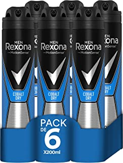 Rexona - Desodorante Antitranspirante Cobalt Dry, 6 x 200 ml