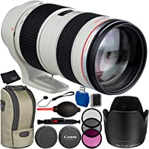 Canon EF 70-200mm f/2.8L USM Lens Bundle with Manufacturer Accessories & Accessory Kit for EOS 7D Mark II, 7D, 80D, 70D, 60D, 50D, 40D, 30D, 20D, Rebel T6s, T6i, T5i, T4i, SL1, T3i, T6, T5, T3, T2i