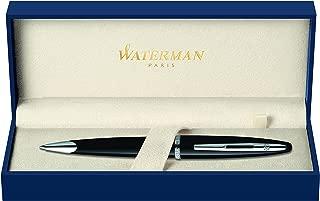 Waterman Carène Black Sea Ballpoint Pen, High-Gloss Black with Palladium Plated Trim, Medium Point with Blue Ink Cartridge, Gift Box