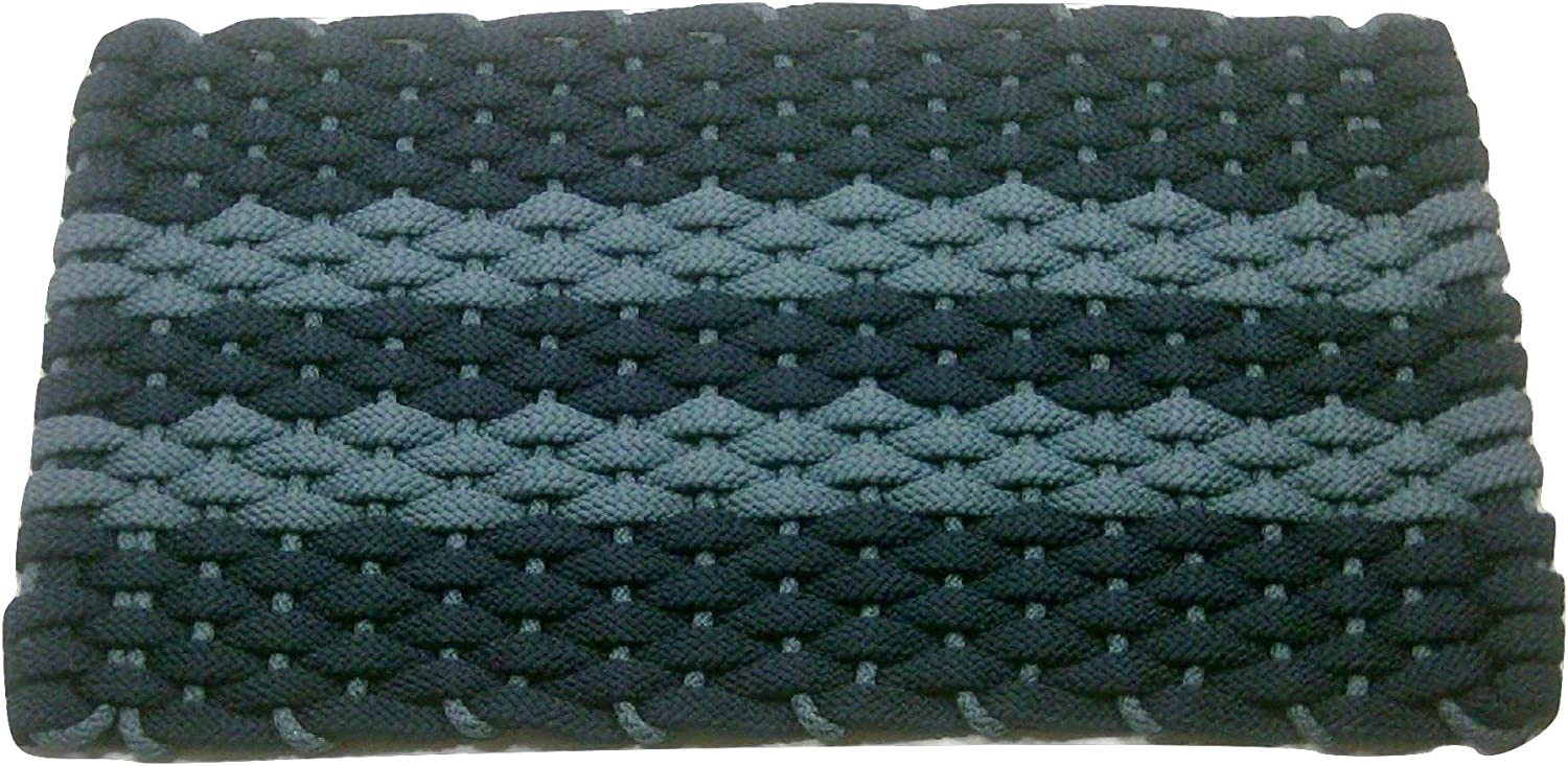 Rockport Rope Doormats 2034362 Indoor & Outdoor Doormats, 20 by 34 , Navy with 2 Light bluee Stripes