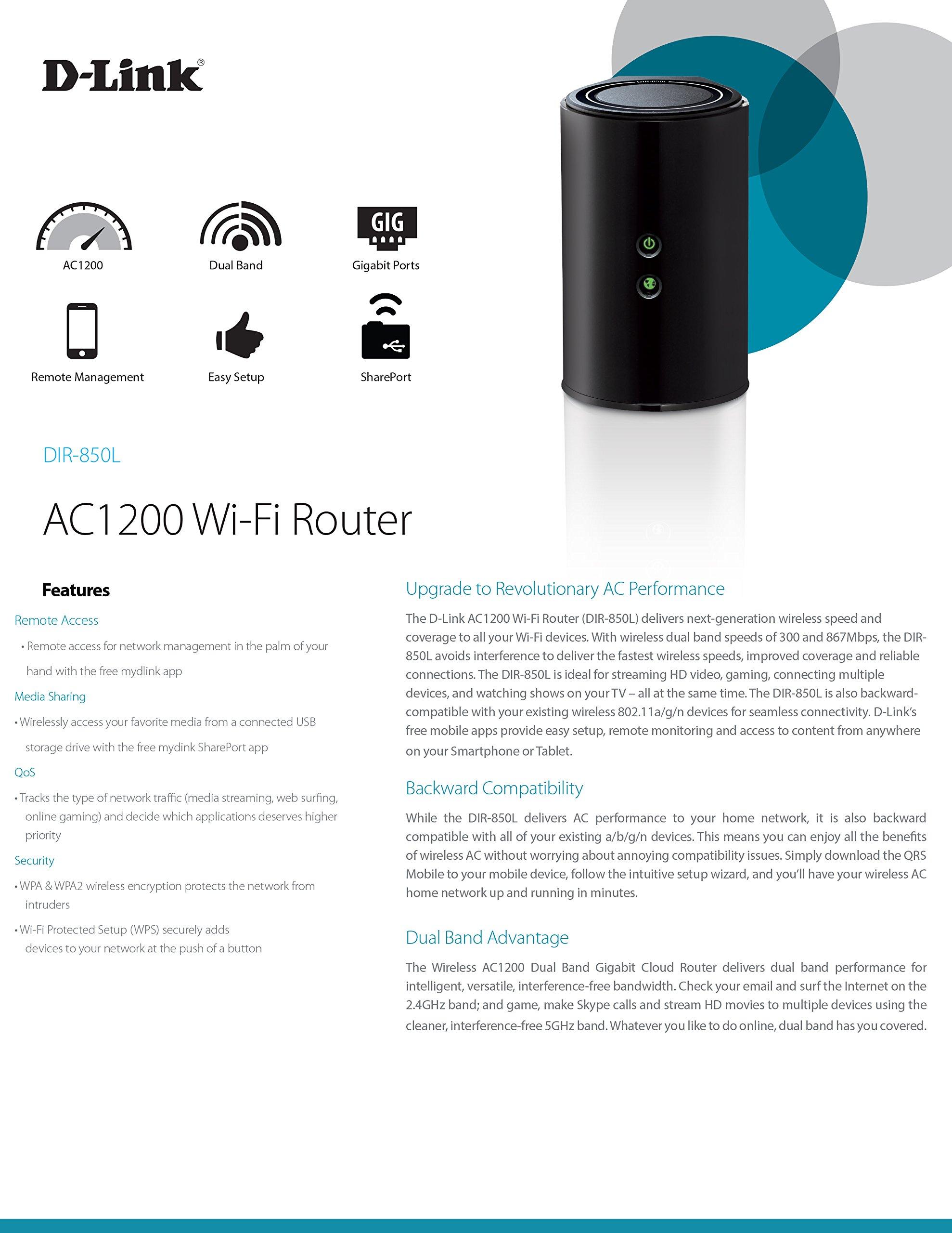 DIR 850L Wireless AC1200 Dual Band