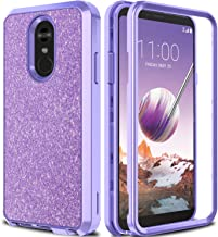AMENQ Case for LG Stylo 4, LG Stylo 4 Plus Case Heavy Duty Glitter Sparkle Design with Shockproof Premium Rubber Bumper and Rugged PC Protective Back Cover for LG Cell Phone 2018 (Sparkle Purple)