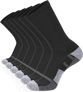 Sponsored Ad - COOVAN Mens Crew Socks 6 Pairs Athletic Running Cushion Thick Warm Work Socks for Men