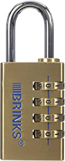 BRINKS 171-30051 30mm Solid Brass Resettable Combination Lock