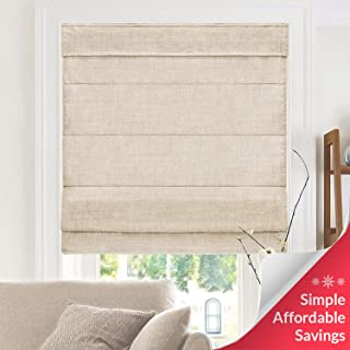CHICOLOGY, Belgian Flax Cordless Roman Shades, 31