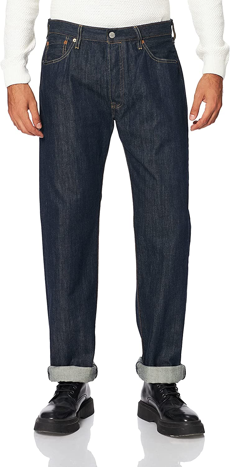 Genuine Free Shipping Levi's low-pricing Mens 501 Regular Straight-Leg Denim Jeans Blue 33 Le Size