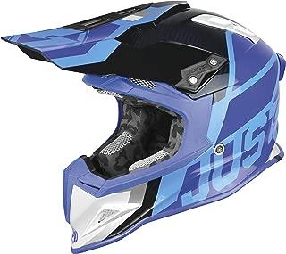 Just 1 J12 Unit Carbon Helmet White/Blue (Blue, Large)