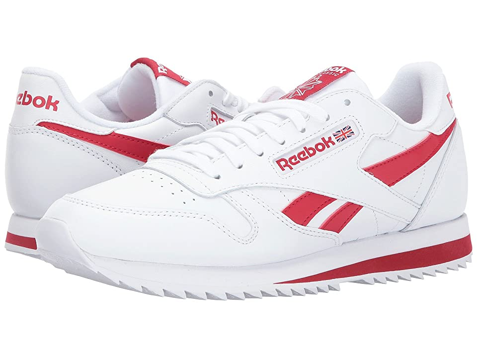 Reebok Lifestyle Classic Leather Ripple Low BP (White/Excellent Red) Men