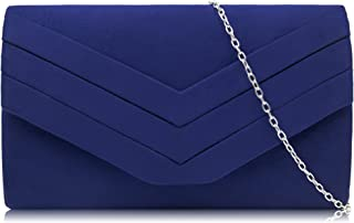 Milisente Women Clutches Velvet Envelope Evening Bag Classic Clutch Purse
