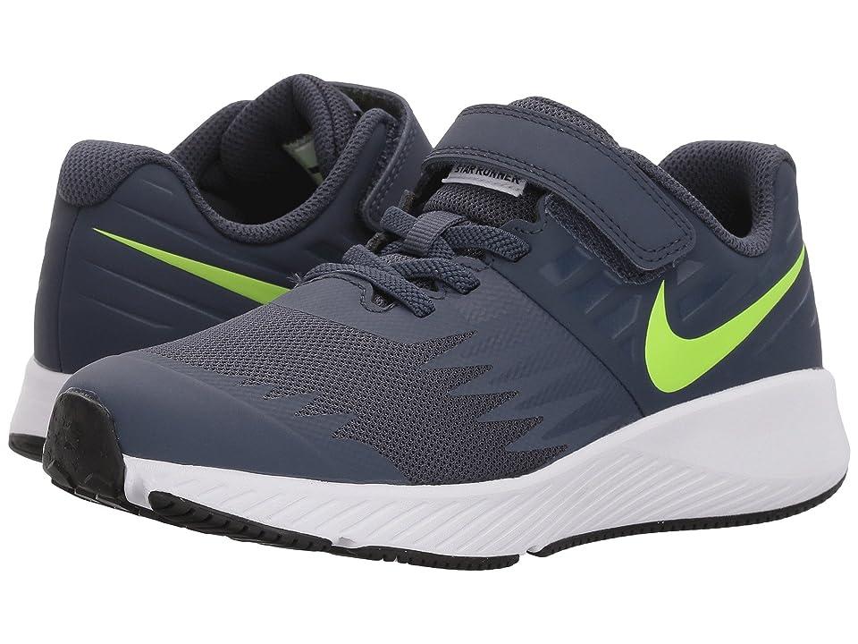 Nike Kids Star Runner (Little Kid) (Thunder Blue/Volt/White/Obsidian) Boys Shoes