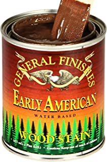 General Finishes Wept Water Based Wood Stain, 1 Pint, Early American