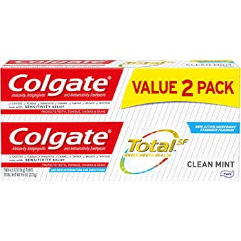 Colgate Total Toothpaste, Clean Mint - 4.8 ounce (2 Pack)