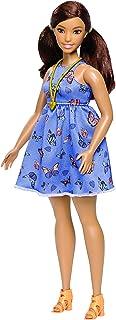 Barbie DYY96 Fashionistas lalka 66 motyl nadruk sukienka