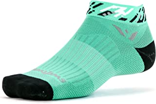 Swiftwick- VISION ONE | Socks Built for Running & Cycling | Fast Dry, All Day Comfort, Cushioned Ankle Socks