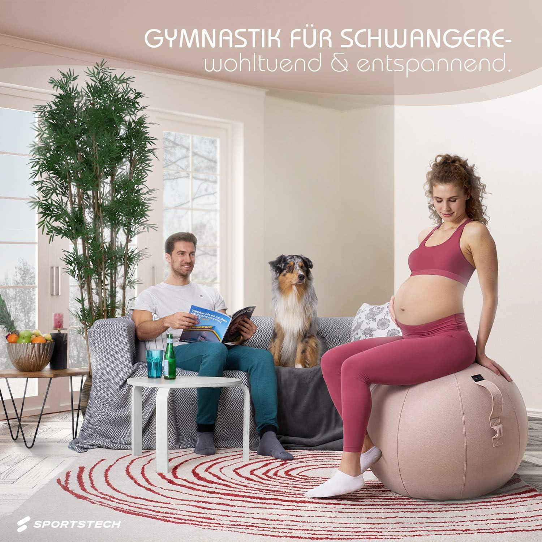 Beckenboden Trainingsger/ät Sitzball ergonomisch f/ür Yoga Pilates Zuhause /& B/üro Fitness Zubeh/ör| YOBA100 Schwangerschaft /& Home Gym Massage Ball// Balance Stuhl Sportstech Gymnastikball 65cm