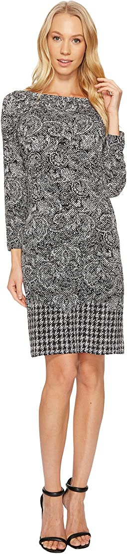MICHAEL Michael Kors - Paisley Houndstooth Border Dress