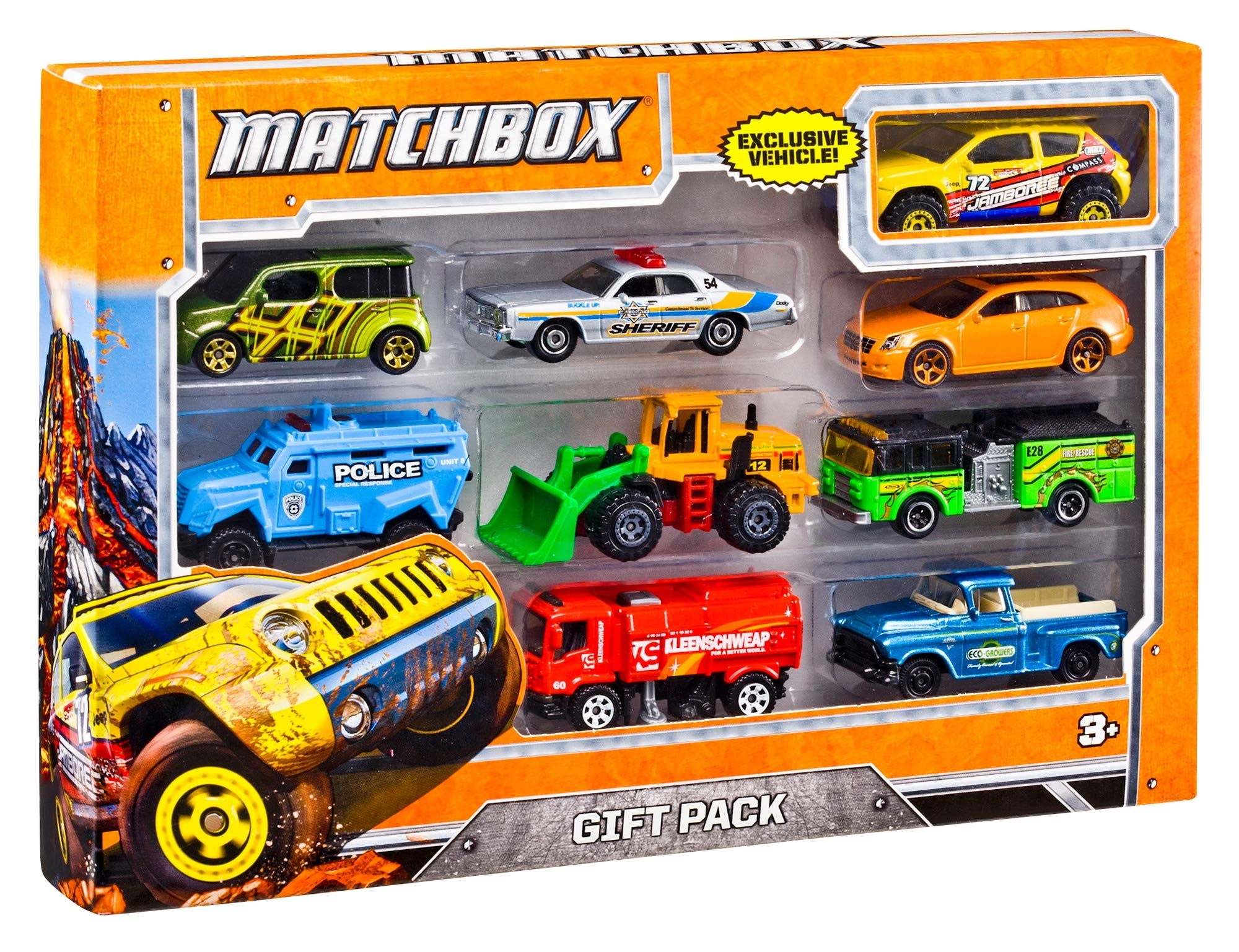 Matchbox Pack de 9 Coches Juguetes, Modelos Surtidos (Mattel X7111 ...