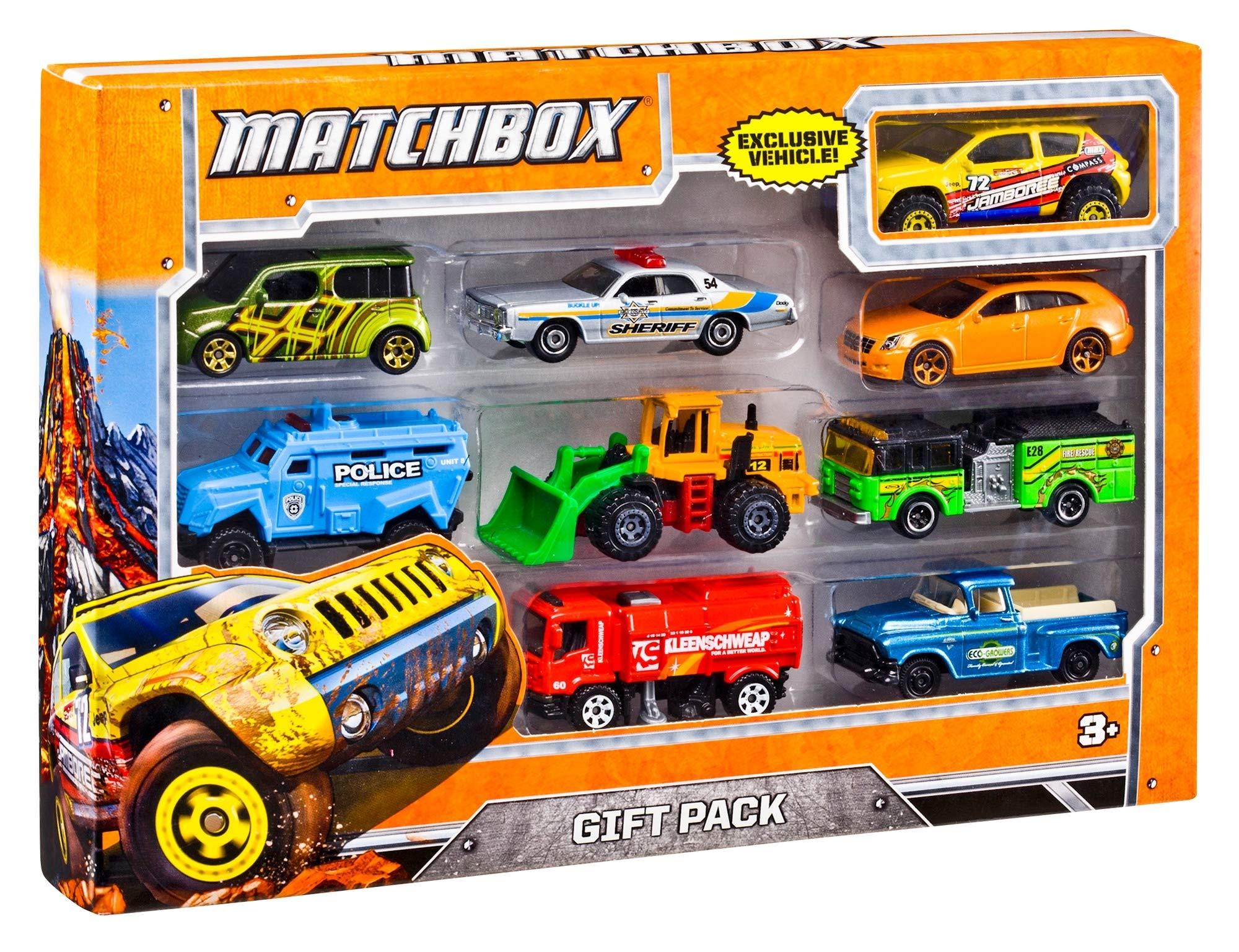 Matchbox Pack de 9 Coches Juguetes, Modelos Surtidos (Mattel X7111): Amazon.es: Juguetes y juegos