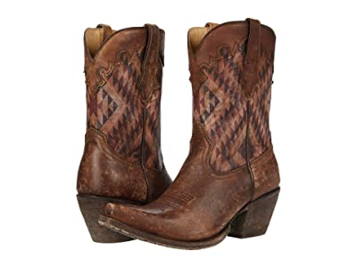 Ariat Circuit Gemma (Distressed Natural/Aztec Print) Cowboy Boots