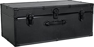 Seward Trunk Barracks Footlocker Trunk, Black, 30-inch (SWD5115-10)