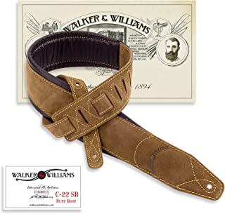 Walker & Williams C-22 Natural Suede Boot Leather Strap with Double Padding