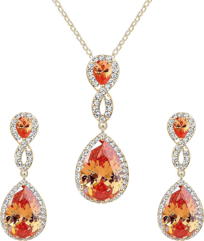 EVER FAITH Wedding 8-Shape Zircon Jewelry Set Austrian Crystal