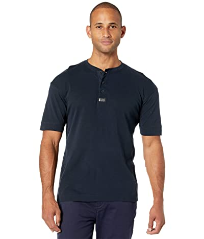 Scotch & Soda Short Sleeve Grandad Tee (Navy) Men