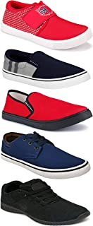 WORLD WEAR FOOTWEAR Sports Running Shoes/Casual/Sneakers/Loafers Shoes for Men Multicolor (Combo-(5)-1219-1221-1140-664-771)