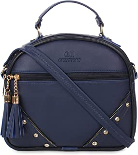 GM CREATIONS® Leatherette Formal Casual Stylish Shoulder Crossbody side Sling Handbag With Adjustable Strap For Women &Gir...