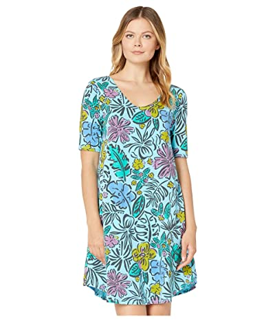 Fresh Produce Sketched Flora Mika Dress (Bluefin Turquoise) Women