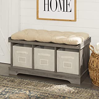 WE Furniture Entry Bench, 42 Inch, Gray Wash