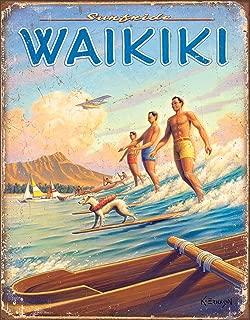 Desperate Enterprises Erickson - Hawaii - Surfside Waikiki Tin Sign, 12.5
