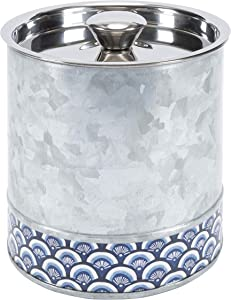 Old Dutch International Catalina Collection ice Bucket, Silver Blue