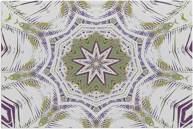 KESS InHouse Alison Coxon Boho Dream Olive Purple Green Decorative Door, 2' x 3' Floor Mat