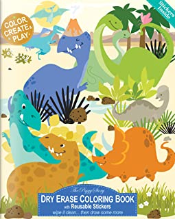 The Piggy Story 'Dinosaur World' Reusable Dry Erase Coloring Book
