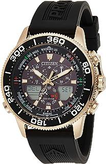 CITIZEN Mens Solar Powered Watch, Analog- Digital Display and PU Strap - JR4063-12E