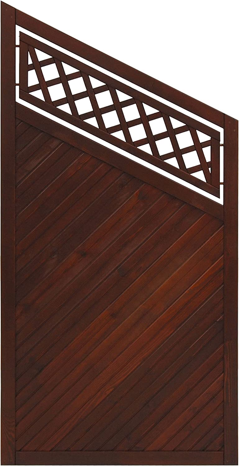 Andrewex wooden fence, garden fence, fencing panel, privacy 180 135 x 90, varnished, brown