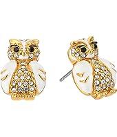 Kate Spade New York - Star Bright Owl Stud Earrings